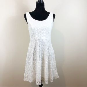 Francesca's Alythea White Crochet Dress M NWT
